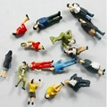 100 Pcs/Pack Seating Colorful People Model Train Railroad Scenery 1:87 Sand Table Model People 2CM Height Hot Selling