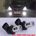 2x H11   5PCS  CREE CHIPS   25W  Car special front fog lamps LED Fog Lights lamps Bulb  For Nissan Qashqai Tiida Trail