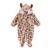 Roupas de bebê Macacão + Chapéu + Sapatos Animal do Estilo Macacão de Bebê Inverno Quente Com Capuz Meninos Meninas Roupas Roupas Roupas de Recém-nascidos