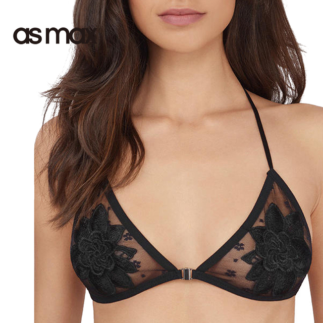 ce2bdd27f5 asmax Fashion Women Sexy Bras Adjustable Straps Soft Lace Bralettes Black  Push Up Bras Strap Backless Nets Sheer Bras New