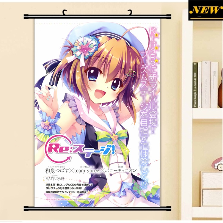 40X60CM Re Stage Project loli lolita mana mii cameltoe cartoon art anime wall picture mural poster cloth scroll canvas painting