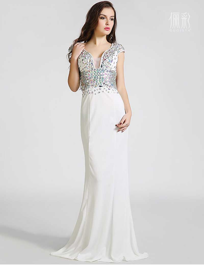 White Evening Dresses Long | Cheap Ball Gowns