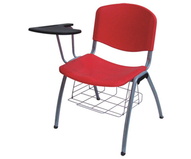 Superbe Plastic Stack Chair With Flip Up Tablet Arm Book Basket Metal School  Writing Chair Institutional