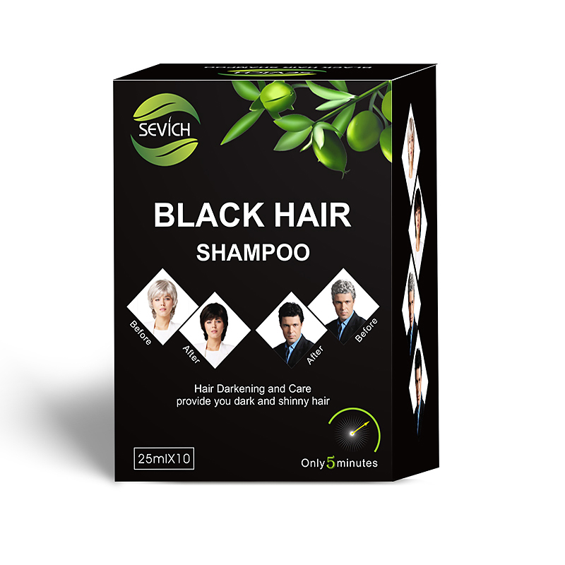 Hair-Shampoo Dye Sevich Remove Herb Blackening-Hair Only Faster Grey Into Coloring Natural