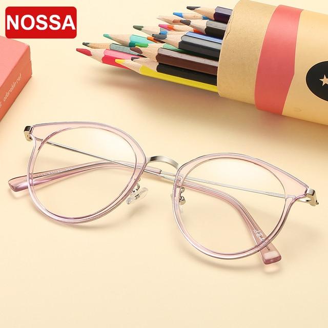 5668367f217 TR90 Korea Style Round Glasses Frames Women Men Trendy Vintage Students  Myopia Optical Frame Elegant Clear