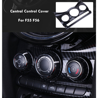 car carbon fiber abs air panel central control decoration accessories for mini cooper f55 f56 styling