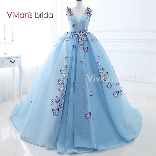 Вышивка бабочек на платье 660