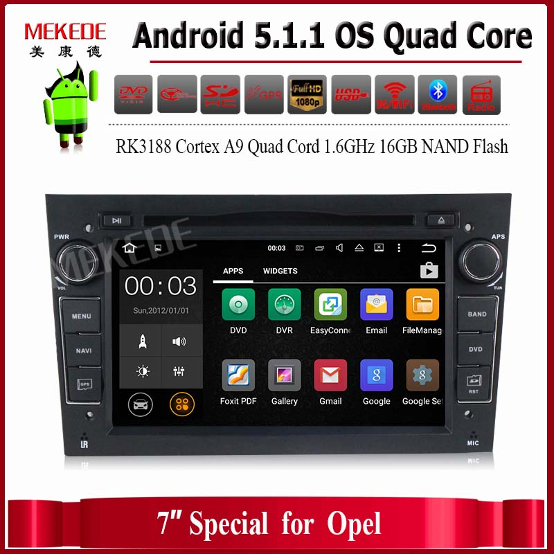 Quad Core Android 5.1 1024*600 Capacitive Screen Car Stereo for Vauxhall Opel Astra H G Vectra Antara Zafira Corsa DVD GPS Navi