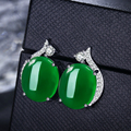 Rojo/verde piedra strass stud pendientes para las mujeres oro blanco plateado pendiente de las mujeres muchachas de la manera del oído de la joyería brincos