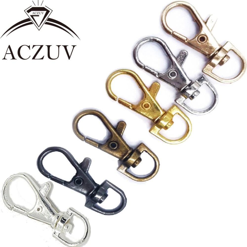 200pcs 38mm Metal Swivel Lobster Clasp Snap Hook for Keychains Purse Chain Handbag Buckles DIY Accessories SLC018