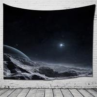 Morigins Fashion Boho Tapestry Psychedelic Decor Cotton Tapestry 150X130 CM Wall Hanging Mandala Tapestry Wall Sun Moon Pattern