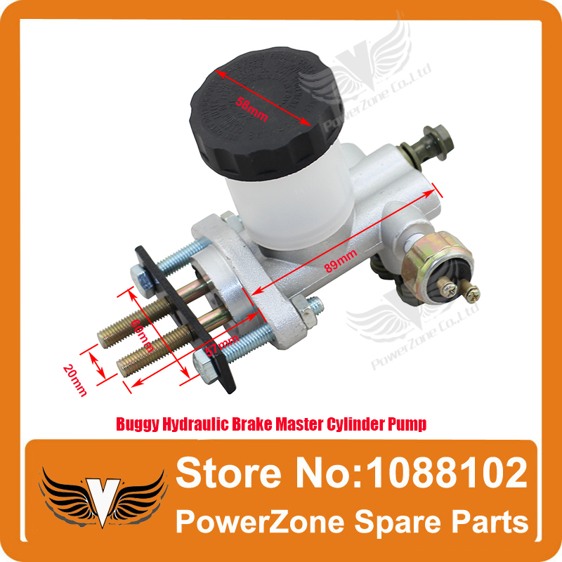 ФОТО High Buggy Performance Hydraulic Brake Master Cylinder Pump Fit 125cc 150cc to 250cc 300cc Go Kart Buggy  Free Shipping