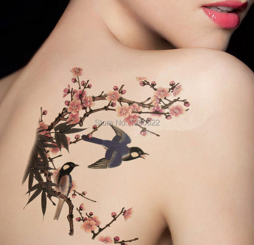 Eccezionale Commercio all'ingrosso 100 pz grande tatuaggio temporaneo body  EV86