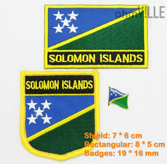 ̿̿̿(•̪ )Las Islas Salomón flag Patch hierro en Parches-Bandera 100 ...