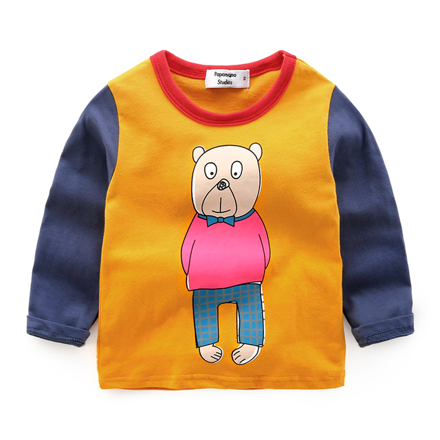 baby t-shirt baby top wear leisure wear long sleeved spring 2017