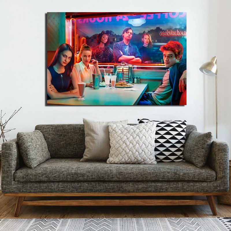 Riverdale Series Wallpaper Canvas Painting Print Living Room Home Decoration Artwork Modern Wall Art Oil Painting Poster Picture in Painting Calligraphy from Home Garden