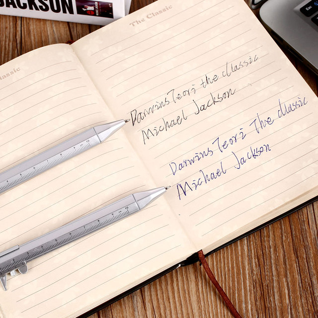 Multifunction 0.5mm Gel Ink Pen Vernier Caliper Roller Ball Pen Stationery Ball-Point 2 Colors Drop shipping 4