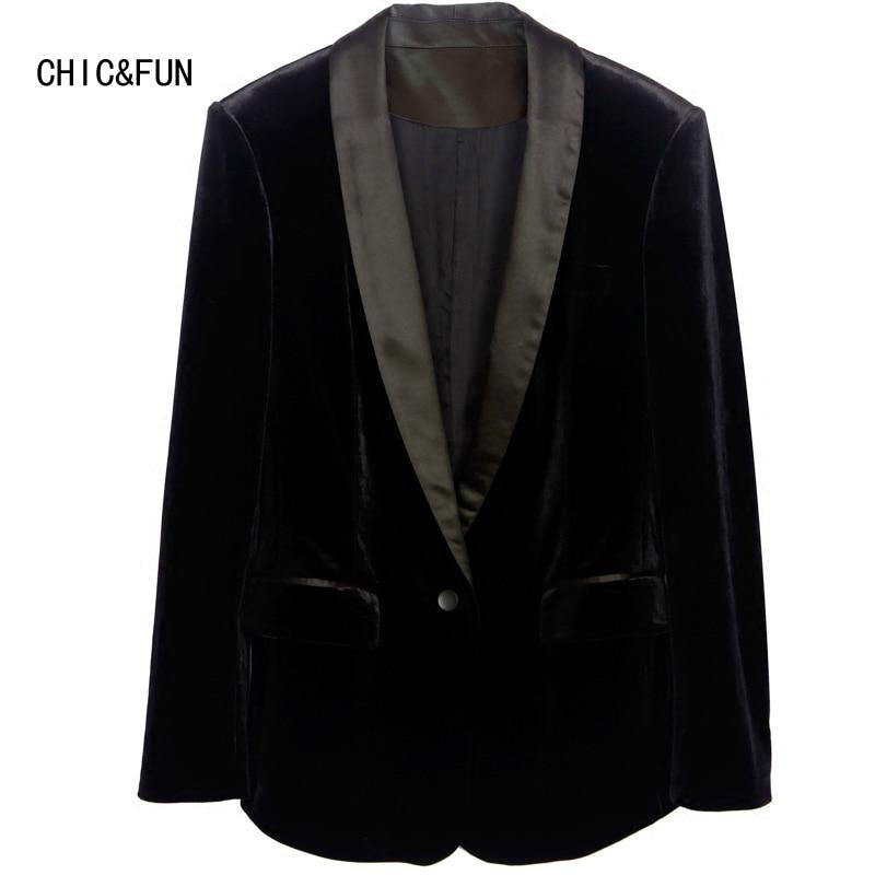 CHIC & FUN Högkvalitativ Gold Velvet Women's Suit Blazer Vår och - Damkläder - Foto 4