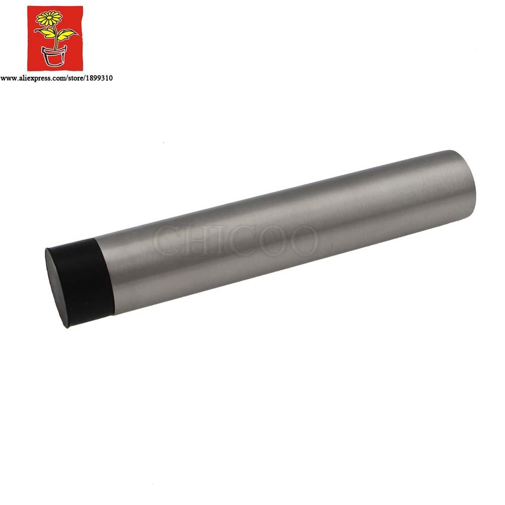 10pcs Wholesale Lengthen Stainless Steel Door Stop Rubber Door Stopper  Decorative Door Stoppers For Wall