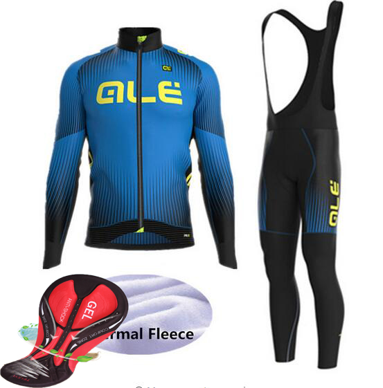 2017 Winter Thermal Fleece ALE Cycling Set Long Sleeves Cycling Jerseys Ropa Maillot Ciclismo Bicycle MTB Bike Cycling Clothing veobike men long sleeves hooded waterproof windbreak sunscreen outdoor sport raincoat bike jersey bicycle cycling jacket