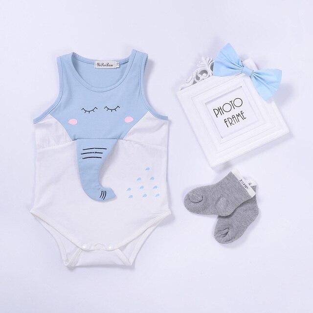 Baby Rompers Summer Baby Girls Clothing Cartoon Elephant Newborn