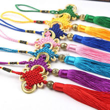 лучшая цена Free shipping HOT Feng shui Lucky China Knot Bead Color Pendant Mascot Home Decoration Health Protection Car or Door Decor