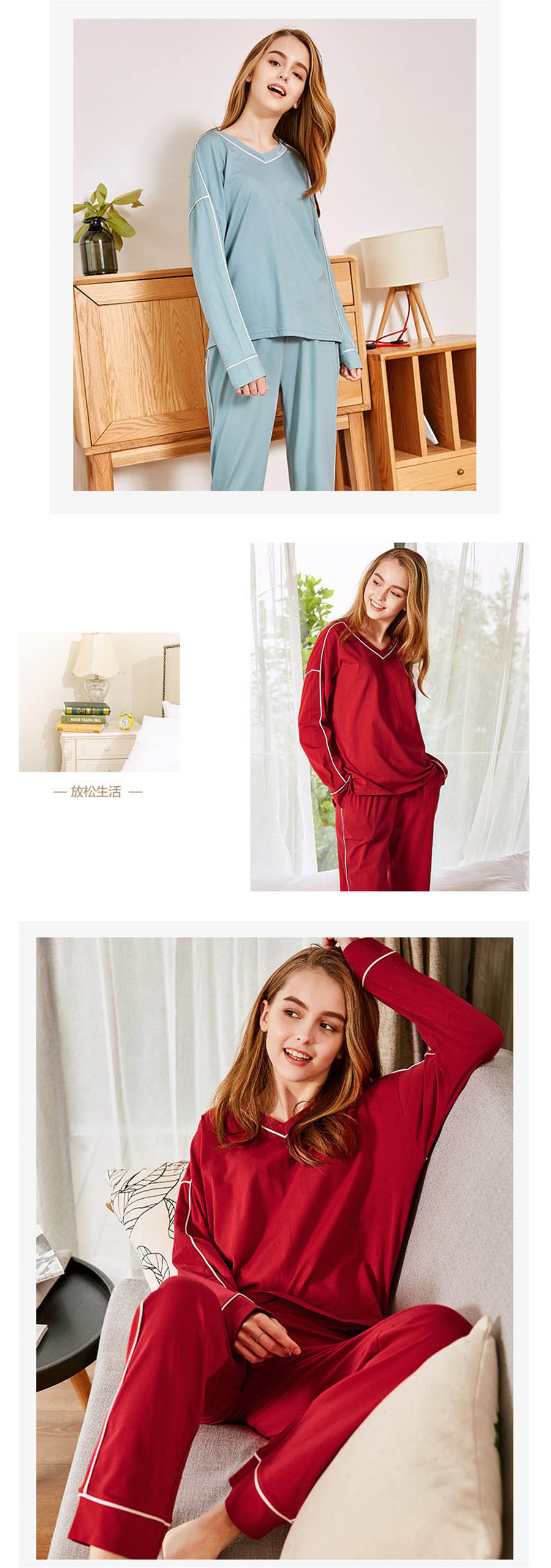 Detail Feedback Questions about Big Yards M 2XL Women Pajamas Sets ... 715d29c54