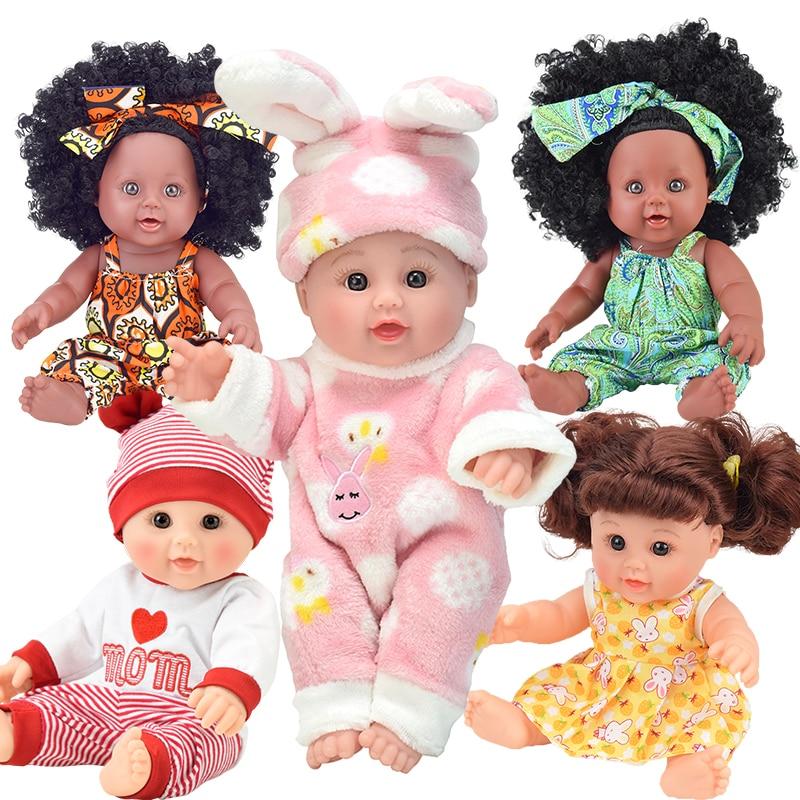 ¡12 pulgadas! Boneca bebe bebé muñeca negro oyuncak lol gudetama chica suave de silicona de vinilo lalka realista vivo juguete regalo de cumpleaños