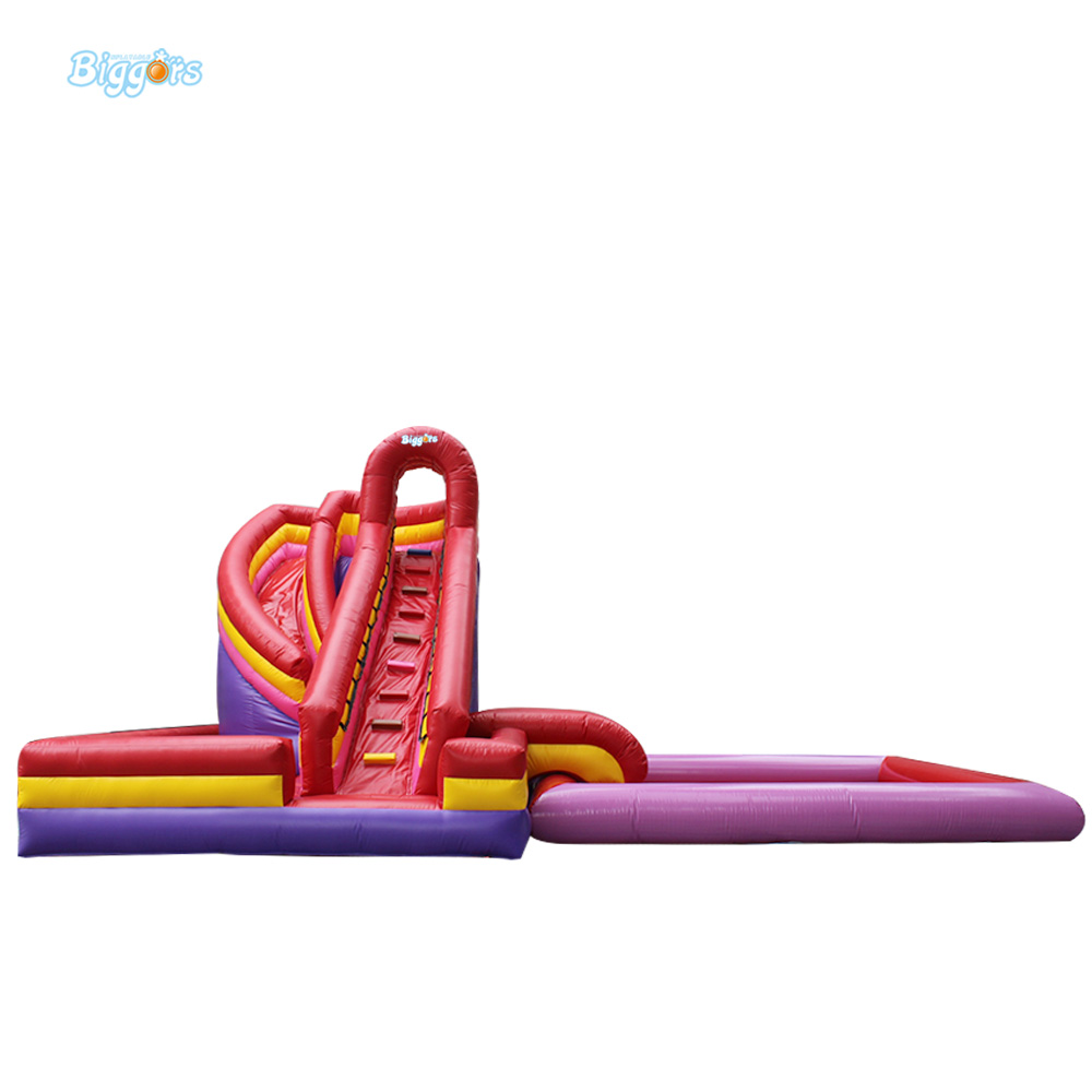 Popular Best Quality Large Inflatable Water Slide with Pool for Kids commercial inflatable water slide with pool made of pvc tarpaulin from guangzhou inflatable manufacturer