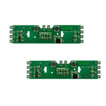 2pcs Model Train Power Distribution Board With Status LEDs for DC and AC Voltage HO Scale 1/87 Railway Model(China)