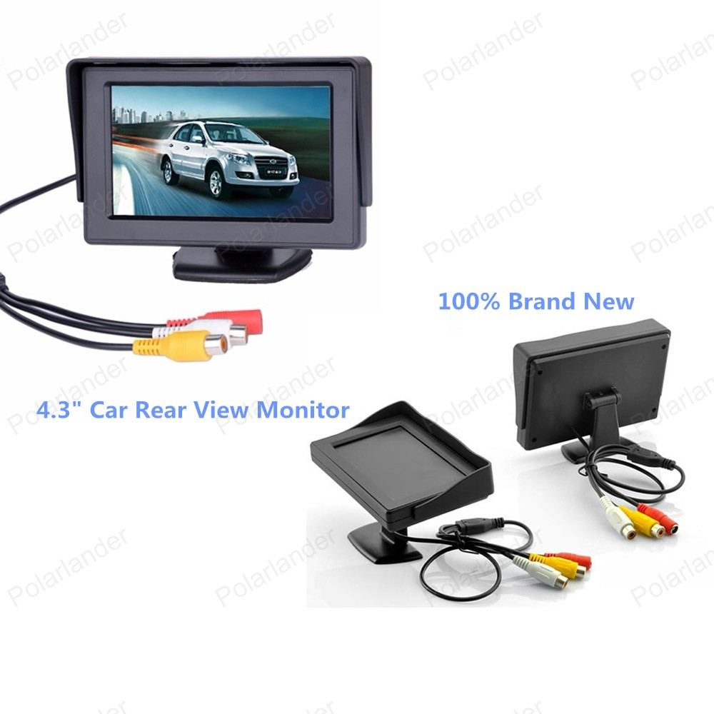 4.3 inch LCD Screen Parking Sensor Foldable Video Car Monitor with 2-channel video input