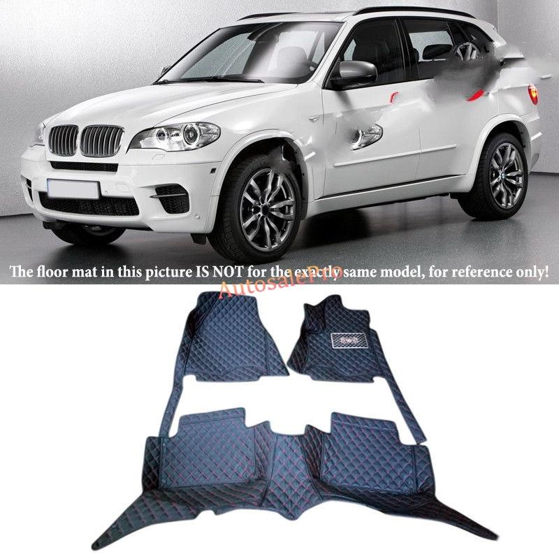 Pour BMW X5 E70 3 rangées 7 Sièges 2008 2009 2010 2011 2012 2013 Droit Conduite À Gauche Noir Avant et arrière Tapis de Sol Tapis Pad cover