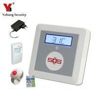 YobangSecurity House Alarm Fire Intrusion Safety Burglar Alarm GSM Senior Telecare SOS Wireless PIR Door Detector For Elder Care