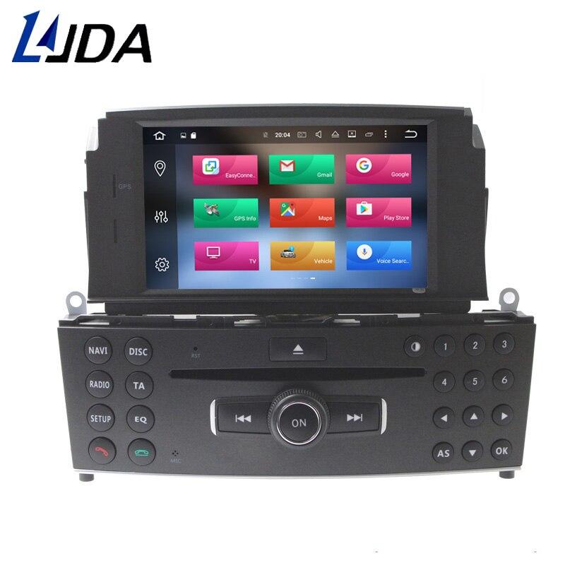 все цены на LJDA 1 Din Android 8.0 Car DVD Player For Mercedes Benz C200 C180 W204 2007 2008 2009 2010 Gps Radio 32G+4G Octa Core Multimedia онлайн