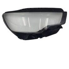 Спереди фар стеклянный абажур оболочки крышка лампы прозрачная маска для Audi A6L C7 2013-2015