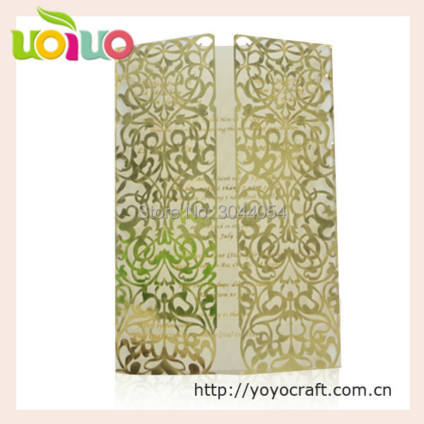 Inc164 Good Quality Glitter Paper Laser Cut Pop Up Wedding