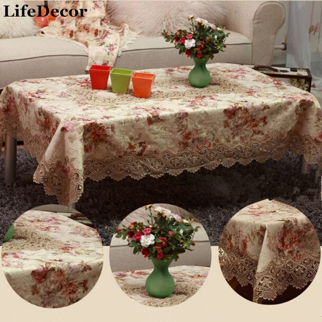 Quentzel Fashion Lace Cloth Embroidered Classical Table Luxury Cloth  Tablecloth Multi Purpose Towel Chair Covers