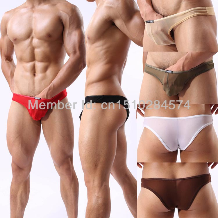 Online Shop 5PCS/Lot Hot sale Cool Mesh See through Men's Briefs ...