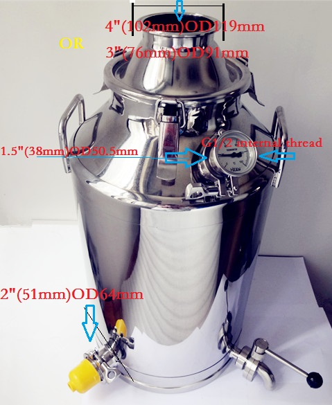 цена на Free Shipping 50L Tank For Distillation Boiler Distillery Tank ,Brew Tank, Distillery Tank Stainless Steel 304