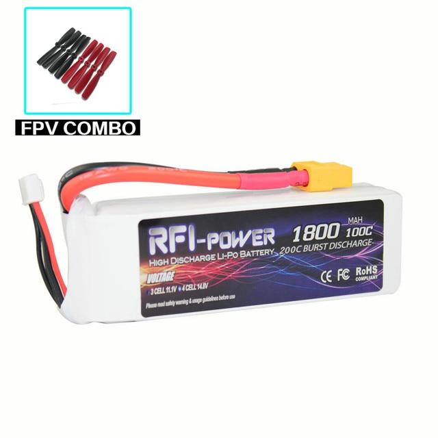 1800mAh 11.1V 100C(Max 200C) 3S Lipo Battery
