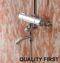 Free Shipping Bathtub Thermostatic Faucet Shower Mixer Valve Bathroom Taps Standing Tub Faucet HH-15-3