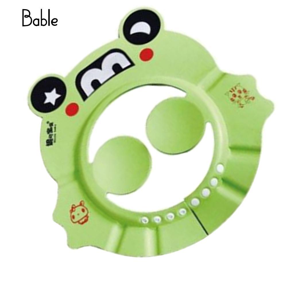 Детская шапочка для душа с защитными ушами, детские шапки, прочные - Цвет: green