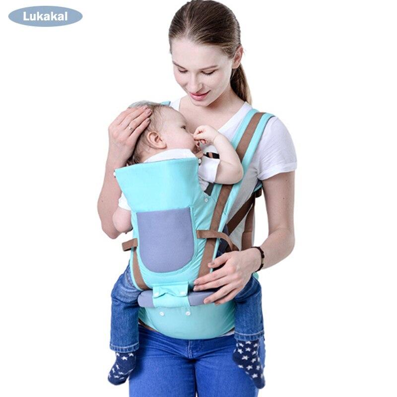 2018 New Design Portador de Bebê Respirável Kangarro 0-36 m Frente Virada Baby Face a Face Do Bebê Mochila HipSeat estilingue do bebê
