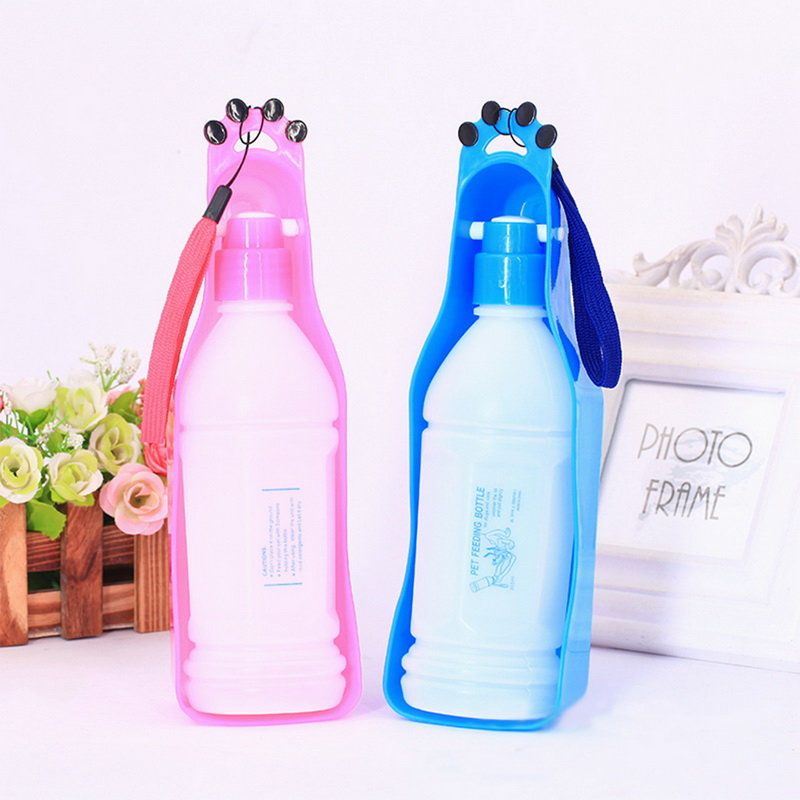 350ml Portable Pet Dog Water Bottle Travel Dog Bowl Cups: Hoomall 350ml Dog Water Bottle Plastic Portable Dog Feeder