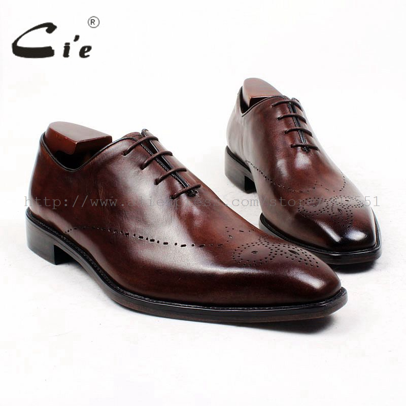 cie Bespoke Handmade Pure Genuine Calf Leather Inner Outsole Breathable Men's Dress/classic/casual Oxford Brown Flats Shoe OX432 cie free shipping mackay craft bespoke handmade pure genuine calf leather outsole men s dress classic derby dark gray shoe d47