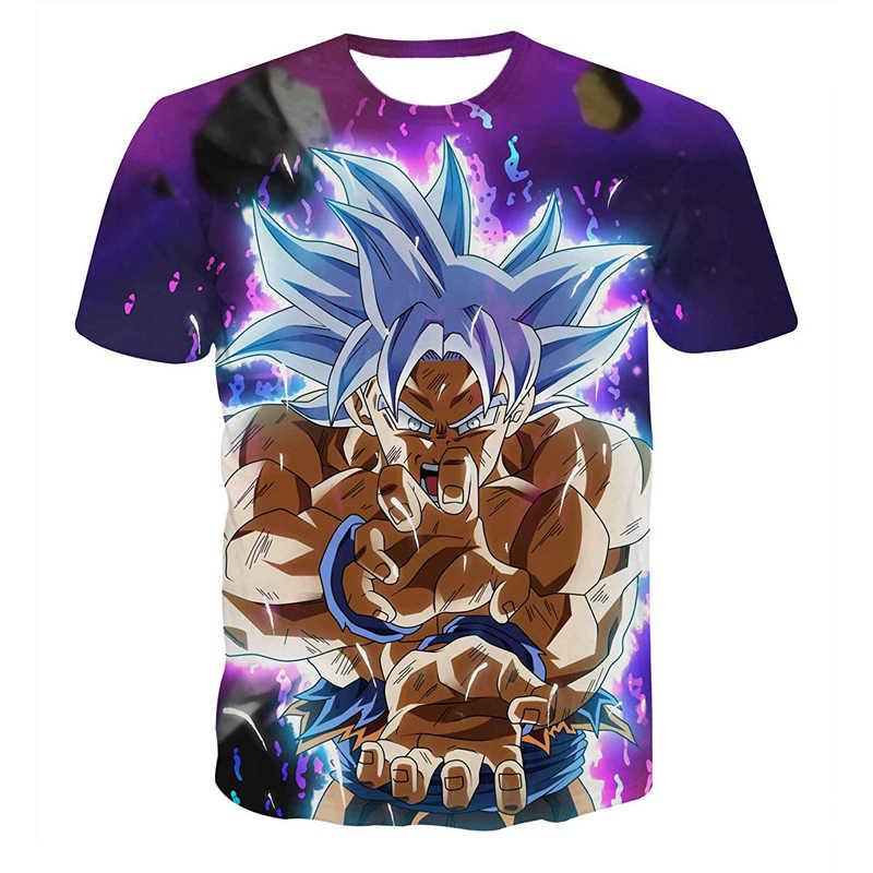 Супер Saiyan 3D футболка, аниме Dragon Ball Z Goku, летние модные футболки для мужчин/мальчиков, футболка с рисунком из мультфильма «Мастер Роши» размера плюс