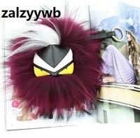 Zalzyywb Hot Koop Fur Monster Pom Pom sleutelhanger Sleutel Ring Tas auto Charm Mannen Vrouwen Bont pom pom Pluche sleutelhanger