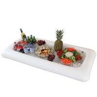 Stazione di servizio-b salad bar buffet picnic bevande gonfiabile gonfiabile piatto di insalata di ghiaccio gonfiabile bar per feste