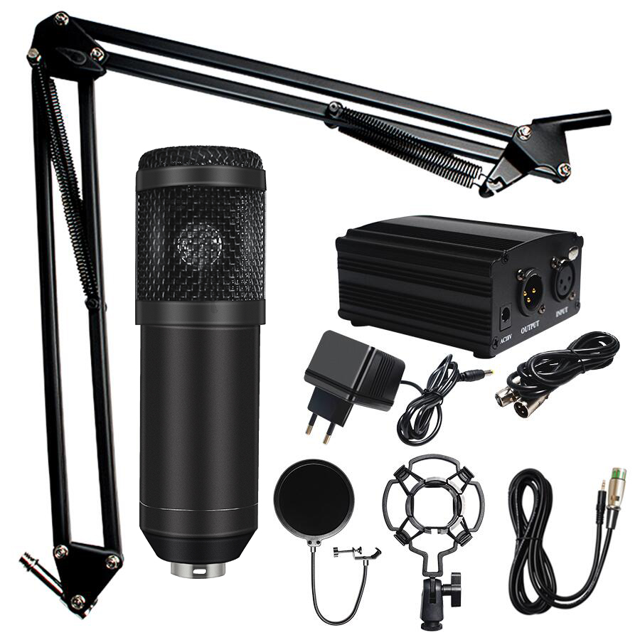 Micro professionnel microfone BM 800 Kits de Microphone à condensateur pour Microphone de Studio d'ordinateur