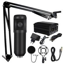цена на Professional microfone BM 800 Karaoke Microphone Condenser Microphone Kits Bundle Microphone for Computer Studio Recording